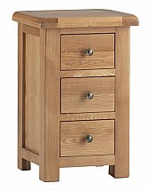 Vale Furnishers - Dorking Three Drawer Bedside